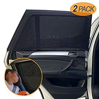 Amteker 2 Pack Car Window Shades - Sun Protection for Car - Portable Car Sun Shades Accessories - Protection for Kids Baby Adults Pets - 40