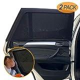 Amteker 2 Pack Sonnenschutz Auto - UV Schutz Sonnenrollo Autofenster für Kinder Baby Erwachsene Haustiere - Tragbare Auto Sonnenblende - 40'x20' für Die Meisten Auto