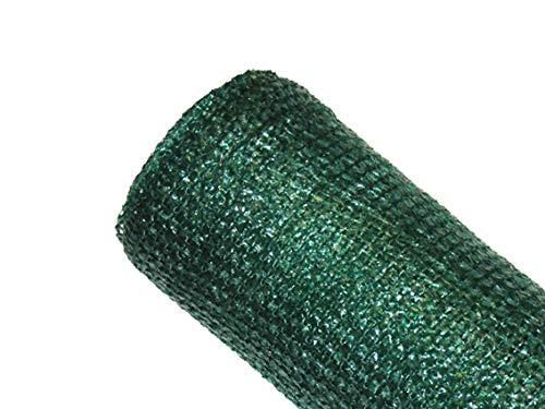 MAILLESTORE Brise-Vue 80% - Vert/Noir - 95g/m² - sans Boutonnières Vert/Noir 2m x 10m