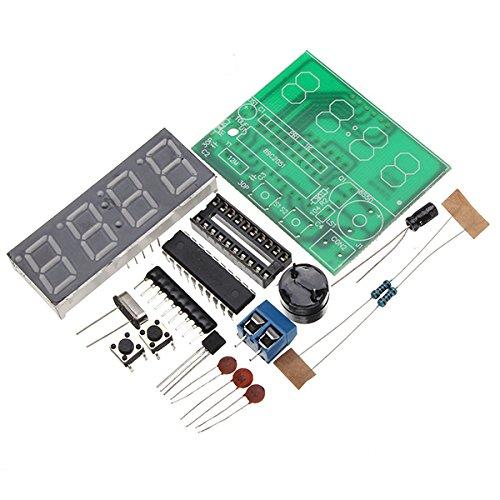 Bluelover C51 4 Bits Elektronische Uhr Electronic Production Suite Diy Kits