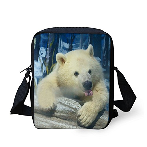 CHAQLIN Borsa Messenger, black pug (bianco) - CHAQLIN bear