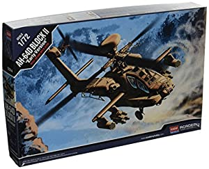 ACA12514 1:72 Academia AH-64D Apache Bloque II Early Version Modelo Edificio Kit
