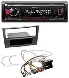 Kenwood KMM-203 MP3 USB 1DIN Aux Autoradio für Opel Antara Astra H Zafira B ab 2005 Charcoal