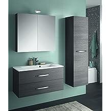 Amazon.fr : ensemble meuble vasque miroir salle bain - Marron