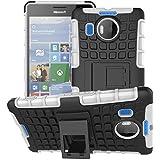 Microsoft Nokia Lumia 950XL móvil nnopbeclik Hybrid 2en 1TPU + PC Carcasa Cover Case Silicona Armadura Armor Dual Layer patrón funda Back Cover giro de 360grados Soporte antigolpes Teléfono Móvil Funda Funda Carcasa Bumper pour Microsoft Nokia Lumia 950XL 5.7pulgadas