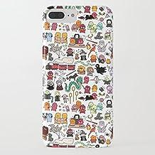 Funda iPhone 7 Plus Funda iPhone 8 Plus Casas de Harry Potter Estuche de Silicona,TPU Diseño impreso + delgado anti-arañazos Suave Jelly Crystal Silicona Cáscara Dibujos animados Patrón