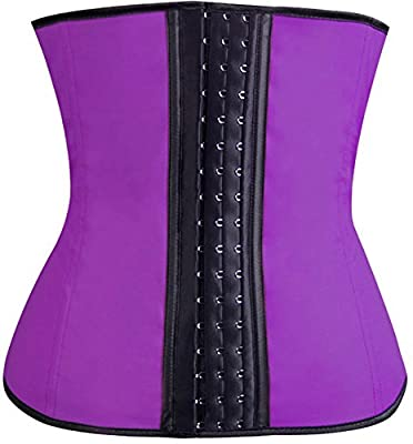 TDOLAH Women's Breathable Elastic Latex Waist Trainer Cincher XS to 6XL Lace Shapewear Steel Boned Corset