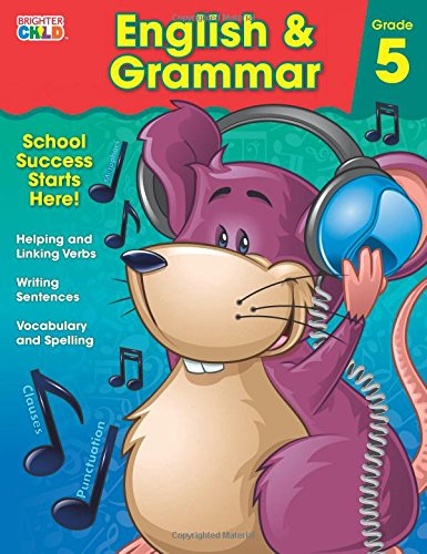 English & Grammar Workbook, Grade 5 (Brighter Child Workbooks)