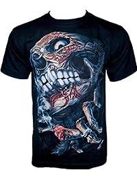 Rock Chang T-Shirt * Tattoo Skull * Glow In The Dark * Noir GR581