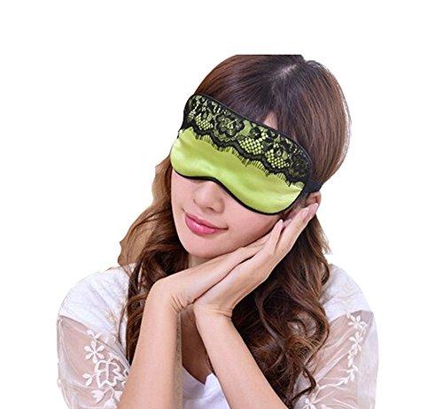 Mou Soie cache oeil/cache oeil pour dormir, Lace/Vert
