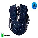 KINGCOO Bluetooth Maus, Wireless Silent und Wiederaufladbare Geräuschlose Plus Große Kabellose Gaming Maus mit 6 Tasten,