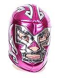 CENO Wrestling - Maschera di Luchador con libellula, colore: rosa