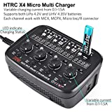 HTRC X4 1S LiPo Battery Charger LiPo LiHV AC/DC Charger for Micro JST