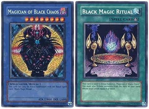 Yu Gi Oh Premium Foil Card Magician of Black Chaos & Ritual (Secret Rare)
