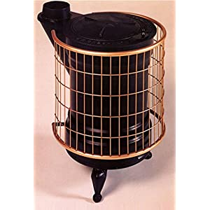 Panadero M288844 – Estufa de leña fundidad negra y oro redonda