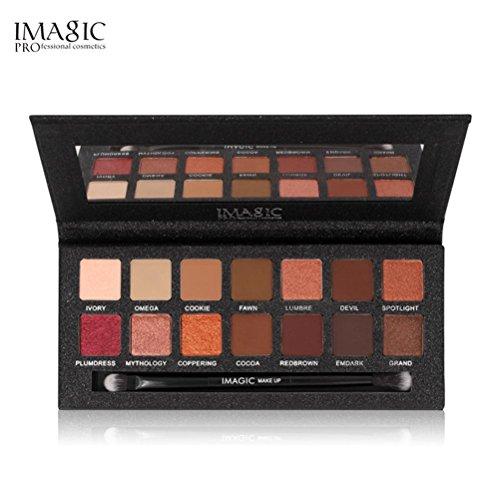 Lanowo 14 Farben-Schimmer-Glitter-Augen-Schatten-Puder Mattaugenschminke-kosmetisches Make-up