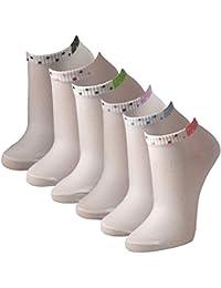 12 Paar sportliche Sneaker Socken für Damen in weiß Qualität von Lavazio®