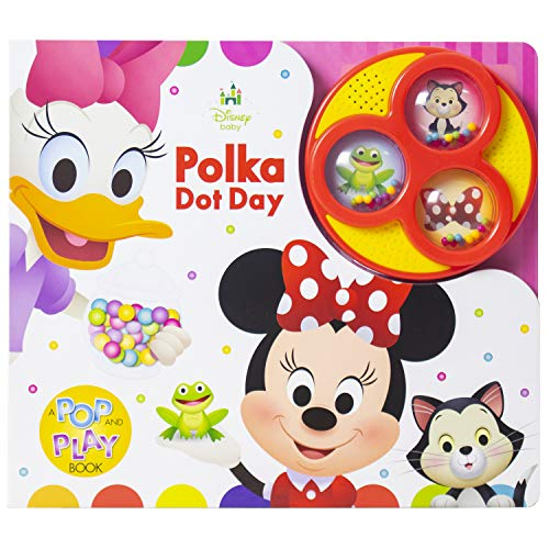 Disney Baby - Minnie Mouse and Daisy's Poka Dot Day - Popping Button Sound Book - PI Kids