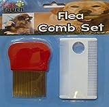 Métal et Plastique Peigne anti-puces pour chien chat Pet avec loupe