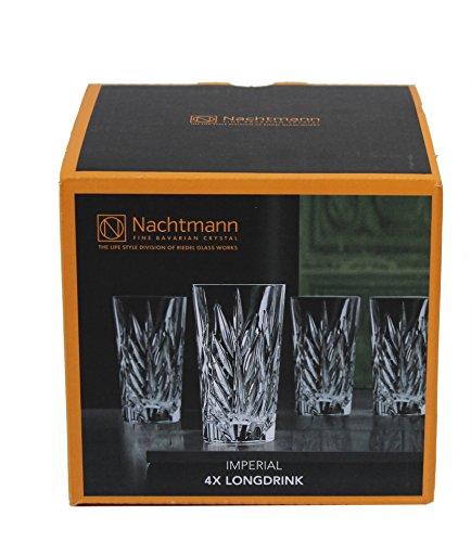 Spiegelau & Nachtmann, 4-teiliges Longdrink-Set, Imperial, Kristallglas, 380 ml, 93429