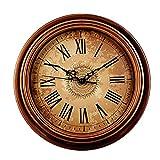 Foxtop Nostalgie Wanduhr ohne Tickgeräusche, Vintage Uhr 30cm