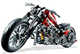 (Angel Impex) Road King Motorbike With (378 Pcs) For Your Kids (Red)