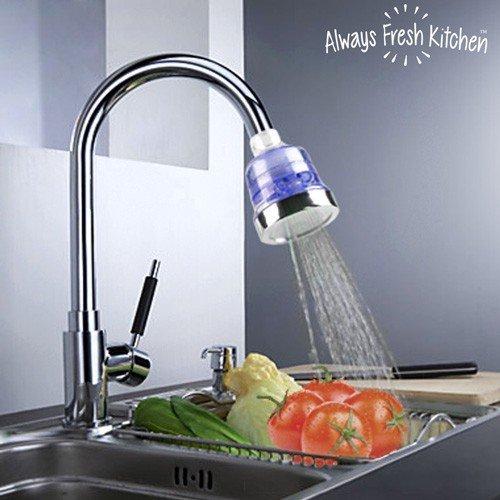 Always Fresh Kitchen Clean Water Tap Filter Rubinetto ecologico da cucina, Argento,...