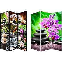 Biombo fotoimpresión sobre lienzo reforzado, montado sobre bastidores de madera, Mod. Zen