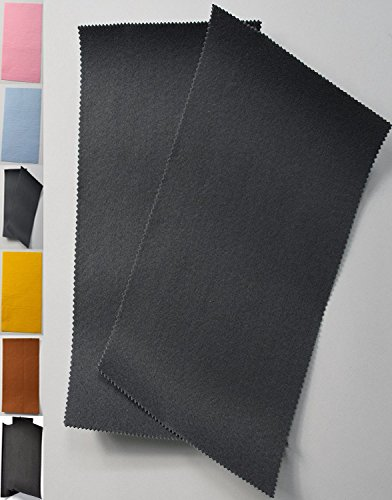StoffBook FILZPLATTE ca. 20x30cm BASTELFILZ FILZSTOFF SELBSTKLEBEND STOFF STOFFE, D297 (grau)