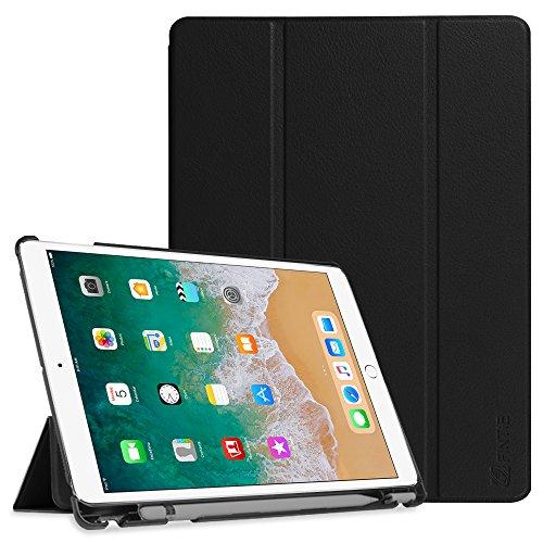 Fintie SlimShell Hülle für iPad Air 2019 (3. Generation) / iPad Pro 10.5 2017 - Ultra Schlank Superleicht Ständer Schutzhülle mit eingebautem Pencil Halter, Auto Schlaf/Wach Funktion, Schwarz