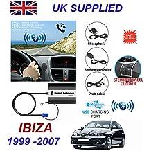 Seat Ibiza serie (1999–2007)–Manos Libres Bluetooth teléfono MP3de entrada Aux USB 1,0A cargador memoria 8PN