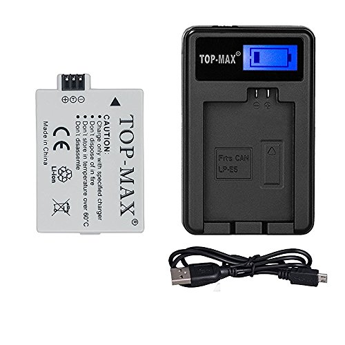 top-maxr-rechargeable-li-ion-battery-usb-charger-with-led-screen-for-canon-eos-450d-500d-1000d-kiss-