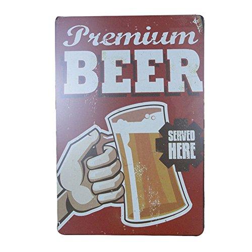 Fablcrew Retro Blechschild Metall Werbung Wand Schild Bier für Poster Wall Pub Bar Coffee Shop 1PCS