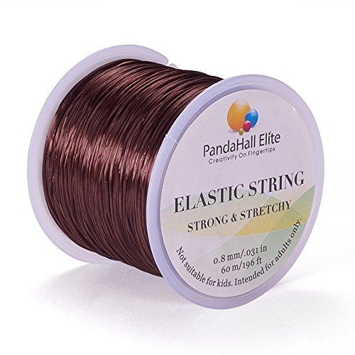 lle Elastische Faser Fade, braun, 0.8 mm, ca 60 m/Rolle ()