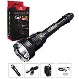 Klarus XT30R Große Taschenlampe CREE XHP35 HI D4 LED Helligkeit von bis zu 1800 Lumen Beam reach 820Meter USB Aufladbare Tactical Taschenlampe inklusive Original-Klarus 2X 3400mAh Akku+Thenines USB Lampe