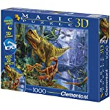 Clementoni - Puzzle de 1000 piezas Magic Effect 3D, diseño Dinosaur Valley (392612)