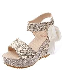 Sandalias mujer, Manadlian Sandalias de mujer Pendiente con chanclas Verano de moda Mocasines Zapatos (CN 36, Blanco)