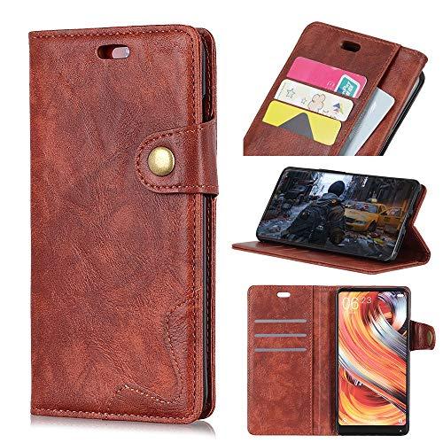 jbTec® Flip Case Handy-Hülle Echt Leder #AL1 zu HTC U12 Life - Cover Tasche Schutz-Hülle Etui Schale Handyhülle Handytasche, Farbe:Braun, Modell:HTC U12 Life