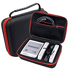 SNES Classic Mini Case – Hard Travel Carrying Case for Nintendo Super SNES Classic Edition Console and 3 Controllers Accessories Protection box