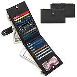 Geldbörse Damen, Everwell Premium Leder Portemonnaie mit RFID Blocker Schutz, 18 Kartenfächern und 2 Reissverschlusstaschen für Geld oder Handy, Groß Lang Portmonee Kartenetui Geldbeutel