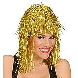 Parrucca disco metallizzata oro