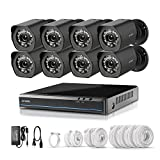 Zmodo sPoE 8CH HDMI Simplfied All-in-One Cable NVR Surveillance Video Security Camera System with 8x720P HD Weatherproof Cameras 1TB HD Remote Access Motion Detection