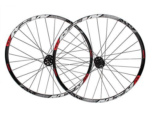 LYzpf Fahrrad Laufrad Mountainbike Rad Vorne Hinten Set Felgen Disc 29 Inch Scheibenbremse Zubehör Aus Aluminum Alloy,Black,29inch (29-zoll-felgen Mountainbike)