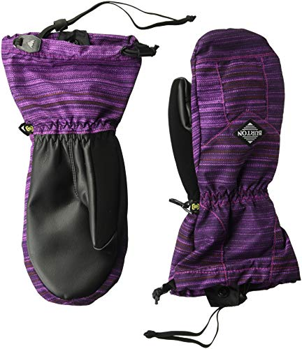 Burton Boys Youth Profile Mitt, Grapeseed Sunset Stripe, X-Large -