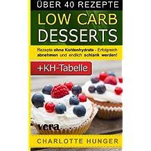 Rezepte ohne Kohlenhydrate: Low Carb Desserts - Das Diaet-Kochbuch + Kohlenhydrate-Tabelle (Erfolgreich abnehmen und endlich schlank werden mit kohlenhydratarmer Ernaehrung!   DEUTSCH)