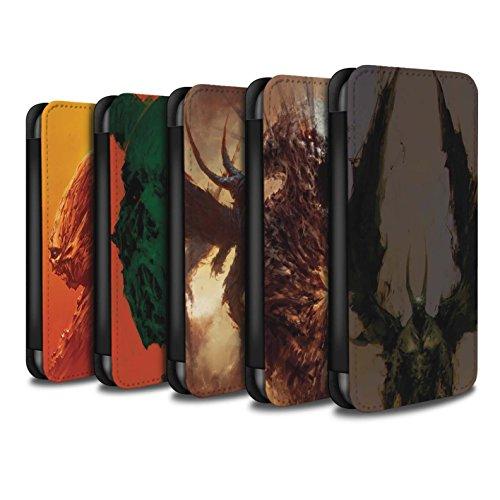 Offiziell Chris Cold PU-Leder Hülle/Case/Tasche/Cover für Apple iPhone 7 Plus / Teufel/Tier Muster / Wilden Kreaturen Kollektion Pack 6pcs