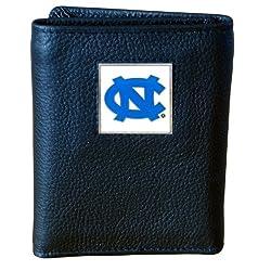 North Carolina Tar Heels Genuine Leather Tri-fold Wallet