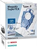 Bosch Megaair Super Tex Type P Vacuum Bag, Large 6 L Capacity and includes a Micro Hygiene Filter for the Motor