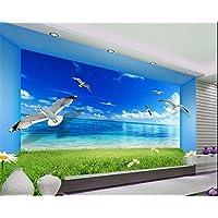 Wongxl Benutzerdefinierte Hintergrundbilder Meer Möwen Landschaft Malerei  Wandbild Wohnzimmer Schlafzimmer Foto Wandbild Tapeten 3D Tapeten Fresko