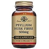 Solgar Psyllium Husks Fiber 500 mg Vegetable Capsules - 200 Vegicaps